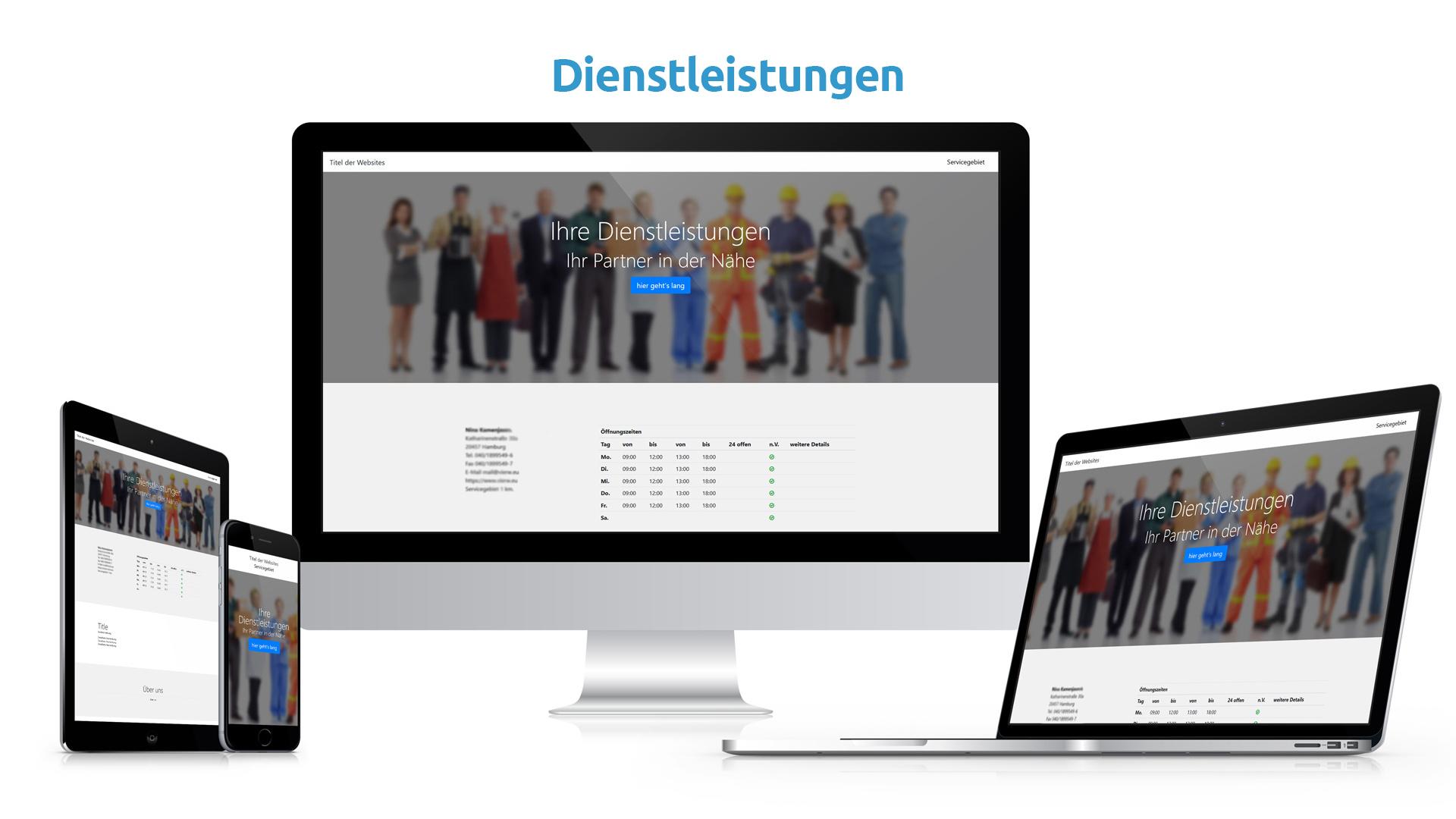 Wir machen Sie sichtbar in Ihrem Servicegebiet für Kunden und Suchmaschinen